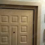 После установки доборов и наличников на входную дверь Тверская