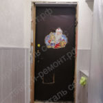 Замена обивки двери с монтажем доборов и наличников мдф в Братеево
